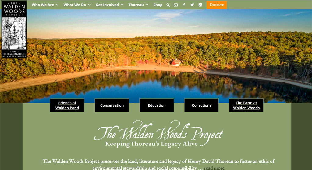 Screenshot of Walden.org website