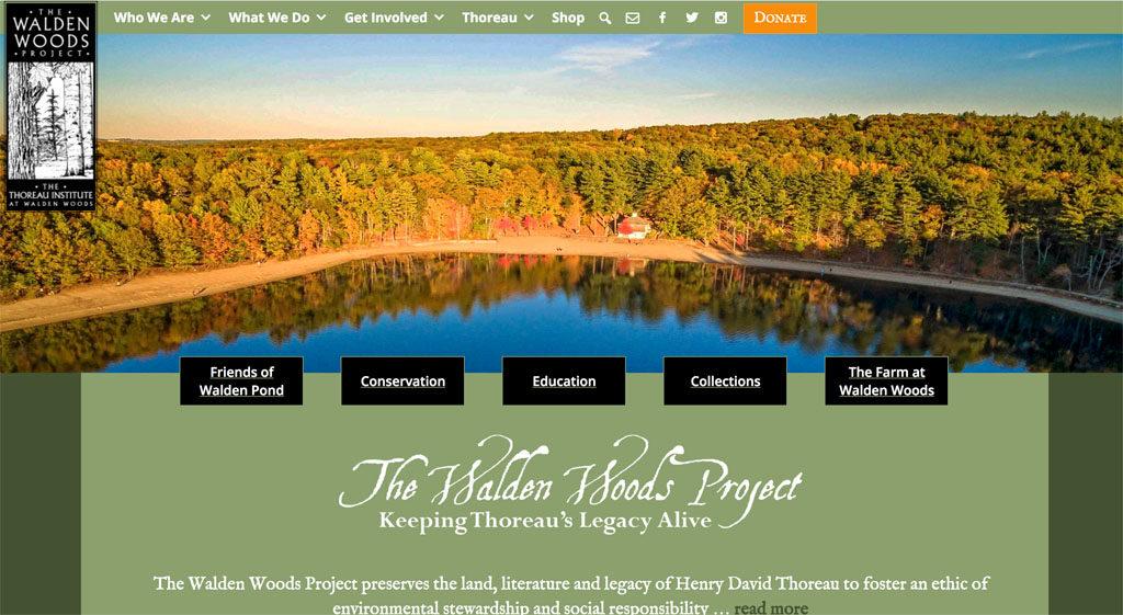 Screenshot of Walden.org website
